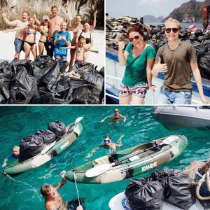 Coboats Trash Heros ocean pollution beach cleanup thailand kohphiphi phukethellip