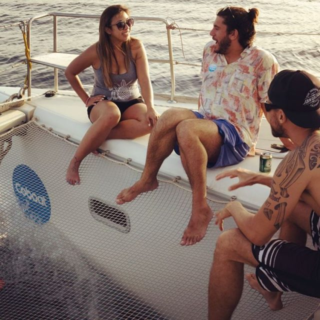 Sunset Sail on Coboat with digital nomad Campers