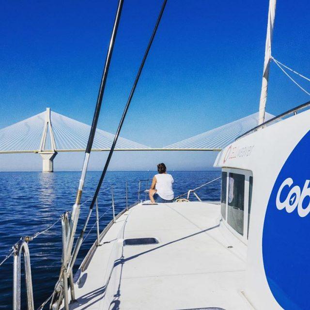 Coboaters exploring greece coworking coworkation catamaran sailing digitalnomad locationindependent remotework
