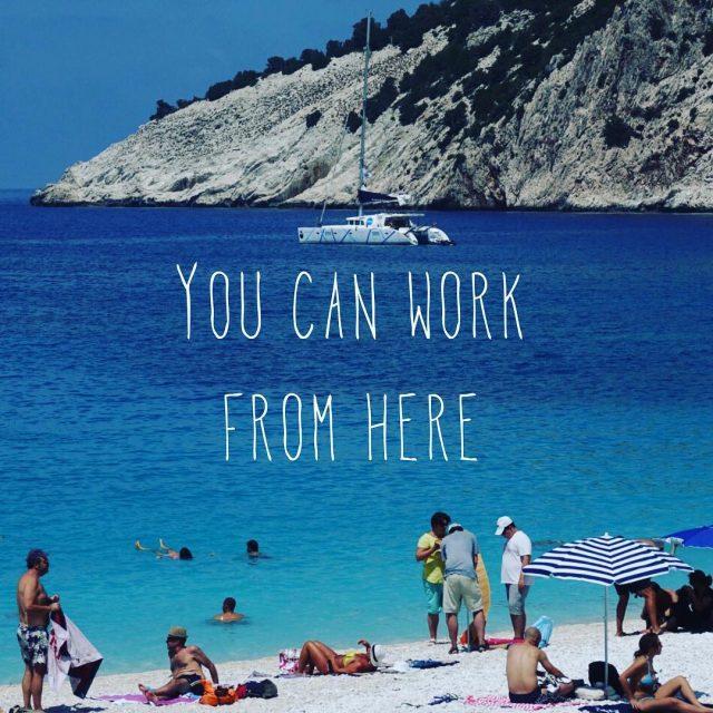 Worklife balance by Coboat coworking coworkation catamaran digitalnomad locationindependent remoteworkhellip