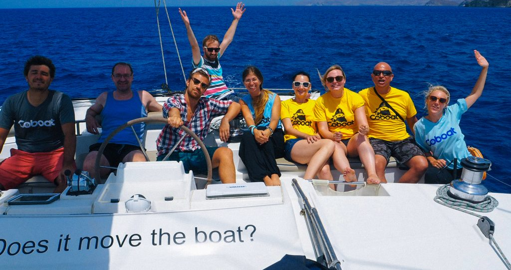 This week's Coboaters ready to set sail